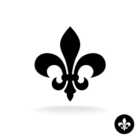 flor de lis: Flor de lis elegante y sencillo silueta negro