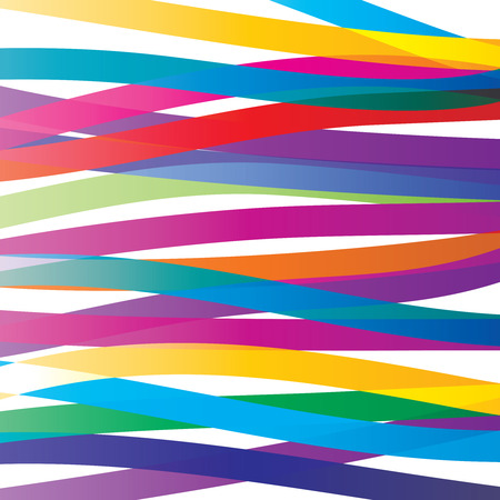 Colorful overlay ribbons abstract background. Vivid colors backdrop.