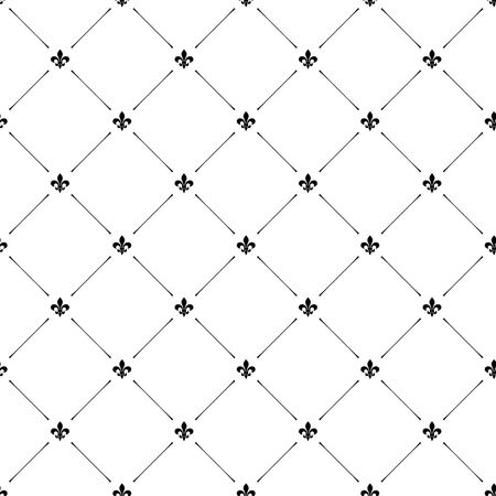 Fleur de lis luxury seamless pattern background