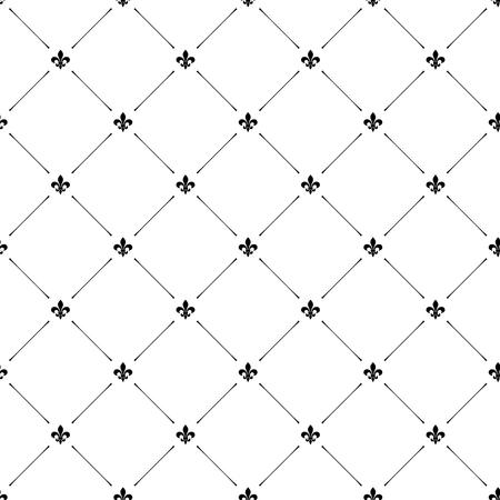 Fleur de lis luxury seamless pattern background