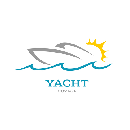 Yacht club . Sea or ocean trip adventure concept symbol.