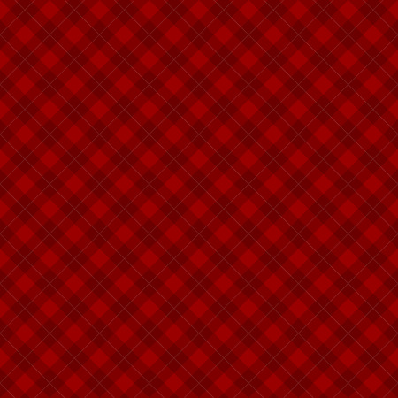 Lumberjack checkered diagonal square plaid red seamless pattern background Vector Illustration