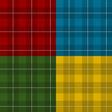 masculine: Lumberjack four color checkered square plaid seamless pattern backgrounds set Illustration