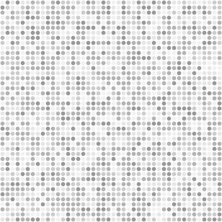 Glitter small round sparkles flat style gray seamless pattern background