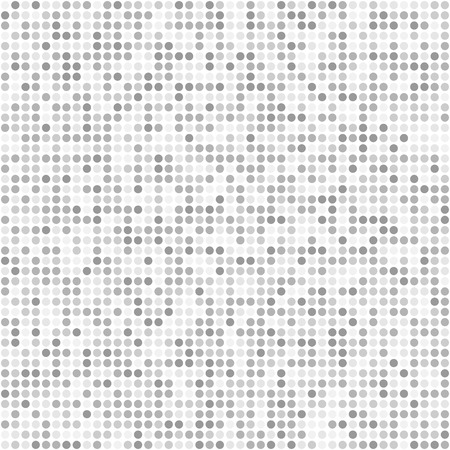 Glitter small round sparkles flat style gray seamless pattern background