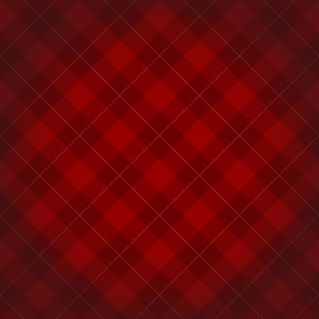 Leñador a cuadros de fondo patrón diagonal a cuadros de color rojo oscuro con una viñeta cuadrada Ilustración de vector