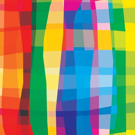 Bunte lebendige hellen Rainbow abstrakte Hintergrund. Glatte Kurvenlinien mit Streifen. Transparenz sind abgeflacht.