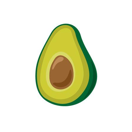 Avocado simple cartoon vector illustration. Isolated on a white background. Illusztráció