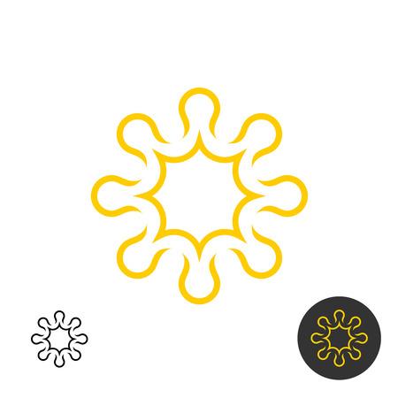 solarium: Sun linear icon. Power energy concept symbol.