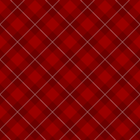 diagonal  square: Lumberjack checkered diagonal square plaid red with contrast white lines seamless pattern background Illustration