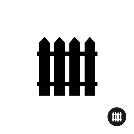 fences: Fence icon. Simple black silhouette one piece style symbol.