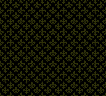 fleur of lis: Fleur de lis dark seamless pattern background