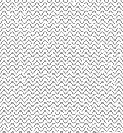 gaps: Wave lines with gaps gray seamless pattern background