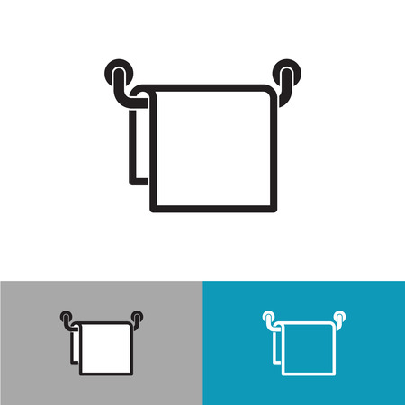 kitchen shower: Towel on a hanger black silhouette icon