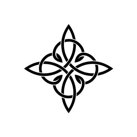 celtic background: Celtic knots elegant cross weaven tattoo template