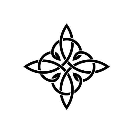 nudos: nudos de la cruz céltica plantilla elegante weaven tatuaje Vectores