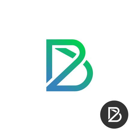 Letter B Linear Industrie Draht Puzzle-Vorlage. Auch In Schwarze Und ...