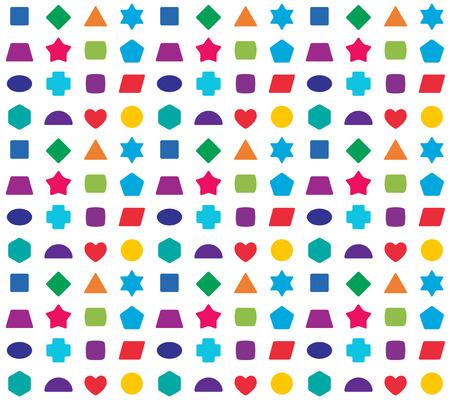 educativo: niños de colores de fondo de fisuras. formas de colores para juegos de aprendizaje.