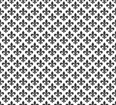 lis: Fleur de lis black and white seamless pattern background