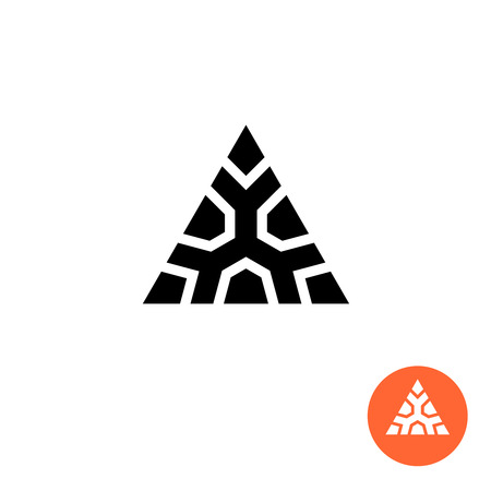 monumental: Triangle ancient tribal style . Monumental strong sign.