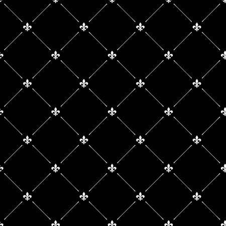 fleur of lis: Fleur de lis black dark seamless pattern background Illustration