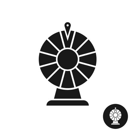 wheel of fortune: Wheel of fortune black icon symbol. Simple one color sign.