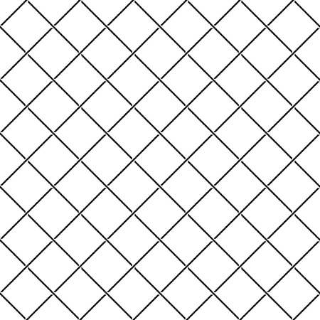 intersect: Crossing intersect sea ropes diagonal net seamless pattern. Black and white colors.