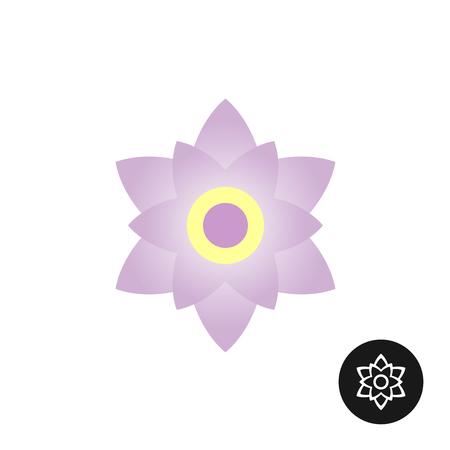 Magnolia Blume Draufsicht Logo. Skizzieren linear schwarz-Version enthalten.