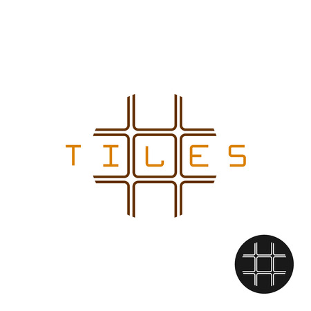 art logo: Wall and floor decorative exterior and interior tiles logo