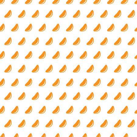 tangerine: Mandarine slices on a white background seamless pattern. Tangerine pieces ordered and repeated periodically.