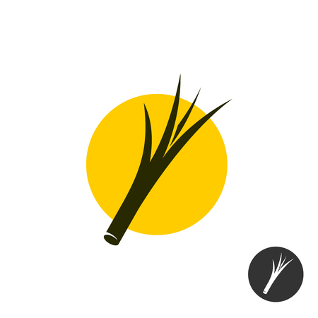 Split end of the hair symbol. Hair split black icon.