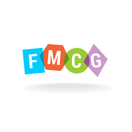 consumer goods: FMCG acronym.   Fast moving consumer goods business concept. Illustration