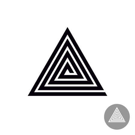 style geometric: Triangle spiral geometric symbol. Tribal style abstract