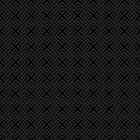 weave: Geometric weave cross squares seamless pattern. Black and gray dark pale colors.