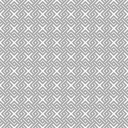 pale colors: Geometric weave cross squares seamless pattern. White and gray light pale colors.