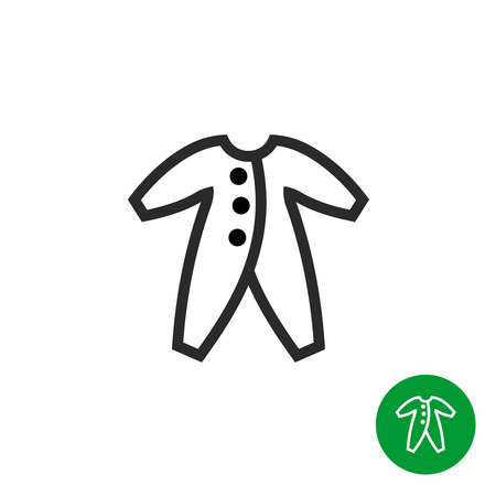 Baby clothes icon simple black linear style