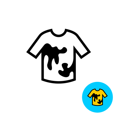 dirty clothes: Clothes with stains icon Stock Photo