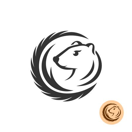 Nerz elegantes Logo. Mode Pelz Industrie Bauernhof Thema.