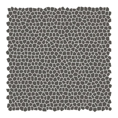Mosaic rocks silhouette square background. Vector illustration.