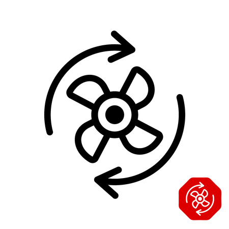Fan rotation direction icon.