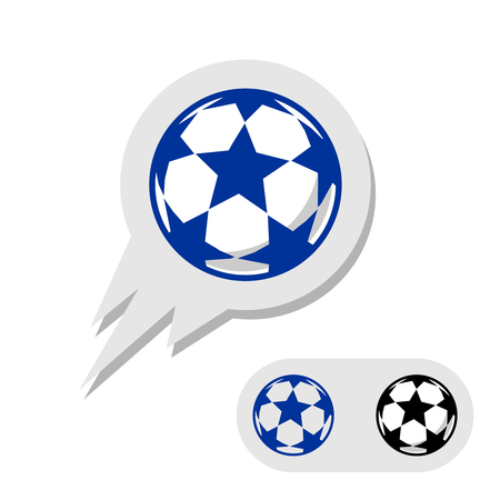 Football soccer ball with stars Illustration