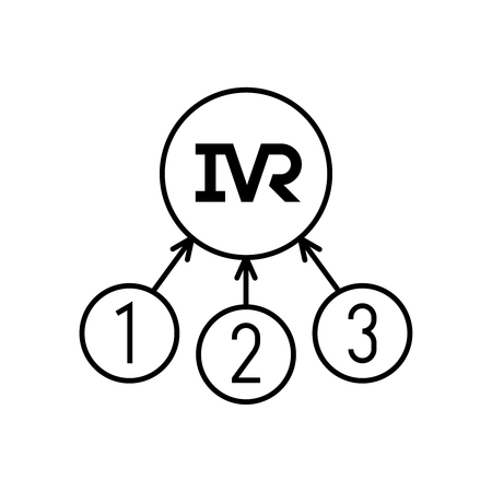 IVR icon. Interactive voice responce technology symbol. Ilustracja