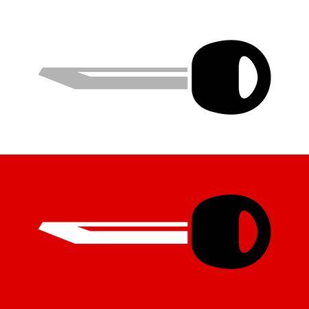 Silhouette de barre vierge clé. Illustration de clé de voiture simple.