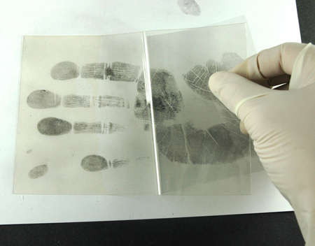 revealing and preserving fingerprints from paper to foil Stock Photo - 6199627