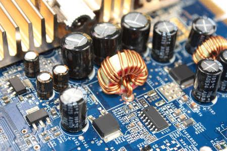 componentes: ahogar en placa de circuito impreso  Foto de archivo