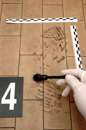 clue: Disclosure of trail ,clue- shoe print