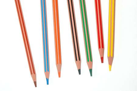 seven coloured crayon Stock Photo - 6343867