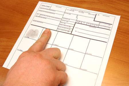 taking fingerprints  Stock Photo - 6709908