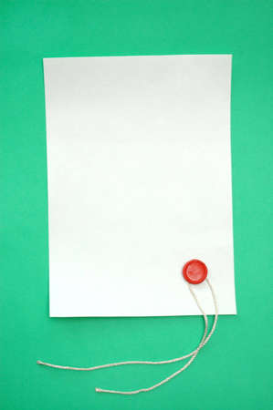 Blank scroll and seal stamper Stock Photo - 6709888