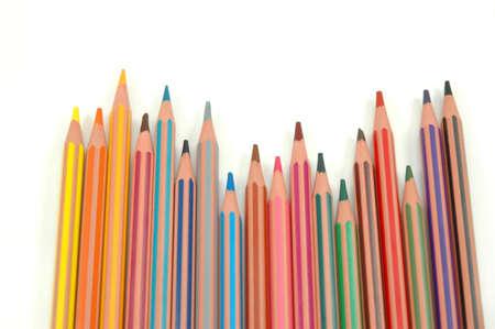 Coloured pencils on white background Stock Photo - 6770313